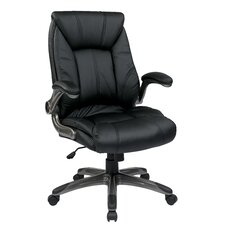 Mid Back Managers Chair with Padded Flip Arms