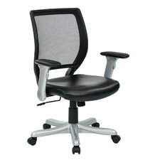 <strong>Office Star Products</strong> Woven Mesh Back Chair with Flip Padded Arms