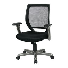 Woven Mesh Back Chair with Flip Padded Arms