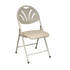 Work Smart Fan Back Folding Chair (Pack of 4)