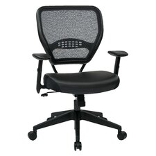 "Space Seating 18.5"" Professional Breathable Mesh Back Manager's Chair with Eco Leather Seat"