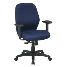 <strong>Office Star Products</strong> Mid-Back Office Chair with Arms