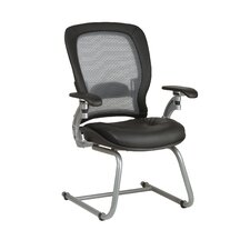 <strong>Office Star Products</strong> SPACE Air Grid Back Leather Visitors Chair