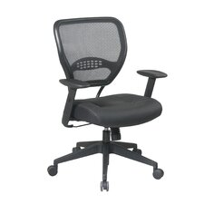 "Space 18.5"" Managers Chair with Black Eco Leather Seat"