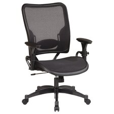 SPACE Deluxe Air Grid Mid-Back Managerial Chair with Arms