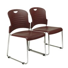 Work Smart Armless Office Stacking Chair (Set of 2)