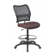 <strong>Office Star Products</strong> Height Adjustable Drafting Chair with Casters
