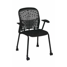 Space Seating Deluxe SpaceFlex Raven Visitor Chair (Set of 2)