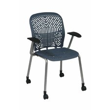 <strong>Office Star Products</strong> Space Seating Deluxe SpaceFlex Raven Visitor Chair (Set of 2)