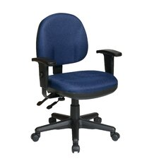 Work Smart Mid-Back Sculptured Ergonomic Managerial Chair