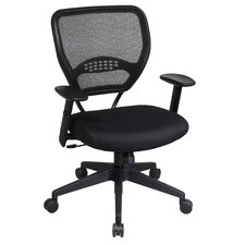 <strong>Office Star Products</strong> SPACE Deluxe Mid-Back Task Chair with Arms