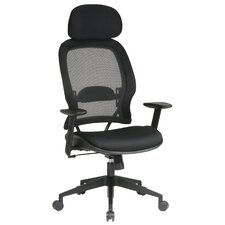 SPACE Air Grid Deluxe High-Back Mesh Office Chair with Arms