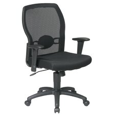 <strong>Office Star Products</strong> Screen Mid-Back Mesh Office Chair with Adjustable Arms