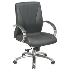 <strong>Office Star Products</strong> High-Back ProLine II Deluxe Mid-Back Leather Executive Chair