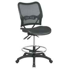 Air Grid Back and Seat Space Deluxe Ergonomic Drafting Chair