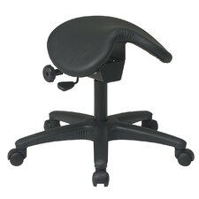 <strong>Office Star Products</strong> Backless Drafting Chair with Saddle Seat and Seat Angle Adjustment