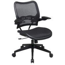 <strong>Office Star Products</strong> Air Grid Seat and Back Space Seating Deluxe Office Chair with Cantilever Arms
