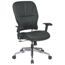<strong>Office Star Products</strong> Seating Space Mid-Back Leather Managerial Chair