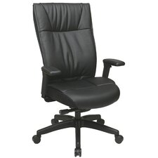 Space Seating Mid-Back Leather Contemporary Executive Chair