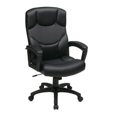 <strong>Office Star Products</strong> Work Smart Leather Executive / Conference Chair