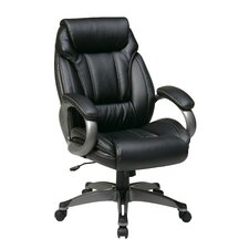 <strong>Office Star Products</strong> Work Smart Eco Leather Executive Chair