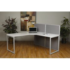 Box Office Two Panels and 90 Degree L Shape Desk