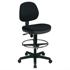 Height Adjustable Drafting Chair with Flex Back