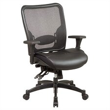 SPACE Professional Matrex Mid-Back Office Chair with 4-Way Adjustable Arms