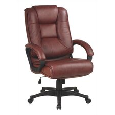 Deluxe High-Back Leather Executive Chair