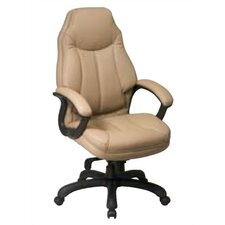 <strong>Office Star Products</strong> High Black Leather Deluxe Oversized Executive Chair