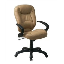 High-Back Leather Deluxe Oversized Faux  Task Chair