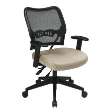 AirGrid Back and Fabric Seat Space Seating Deluxe Office Chair