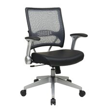 <strong>Office Star Products</strong> Air Grid Back Eco Leather Managers Chair with Flip Arms