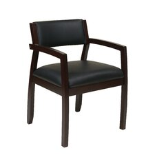 <strong>Office Star Products</strong> Napa Upholstered Back Eco Leather Guest Chair