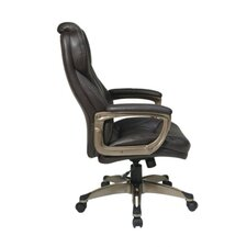 <strong>Office Star Products</strong> Eco Leather Executive Office Chair with Padded Arms