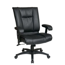 <strong>Office Star Products</strong> Deluxe Mid-Back Leather Executive Chair