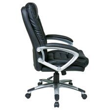 "<strong>Office Star Products</strong> 25"" Back Leather Executive Chair"