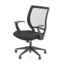 <strong>Office Star Products</strong> Screen Back Mesh Seat Task Chair with Fixed Designer Arms