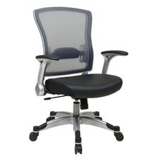<strong>Office Star Products</strong> Professional Light Air Grid Chair with Flip Arms