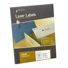 Maco Matte Clear Laser Labels, 50/Box