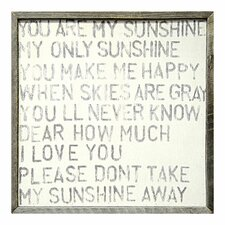 You Are My Sunshine Framed Painting Print