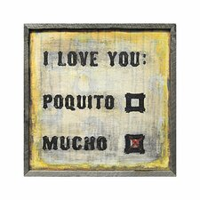 Love You Mucho Framed Painting Print