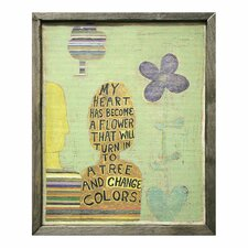 My Heart Has Become Framed Painting Print