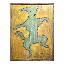 Dancing Dog Framed Painting Print