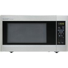 Carousel 1.8 Cu. Ft. 1100W Countertop Microwave Oven - Stainless Steel