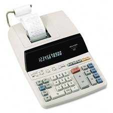 EL-1197PIII Desktop Calculator, 12-Digit Fluorescent, Two-Color Printing