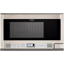 <strong>Sharp</strong> 1.1 Cu. Ft. 1100 Watt Over the Counter Microwave Oven in Stainless Steel