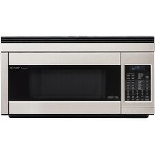 <strong>Sharp</strong> 1.1 Cu. Ft. 850 Watt Over the Range Convection Microwave Oven in Stainless Steel