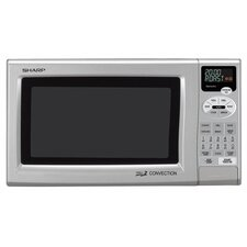 900W Grill 2 Convection Countertop Microwave in Silver