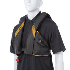 <strong>Onyx</strong> A/M 24 Deluxe Automatic / Manual Inflatable Life Jacket PFD in Carbon/Yellow
